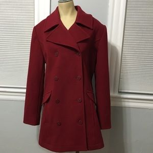 Pea Coat size 12 burgundy